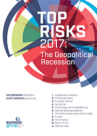Top Risks 2017: The Geopolitical Recession - Eurasia Group